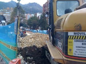 Obras: Cll 81 entre Cr 9a y 7ª, Abril 2011