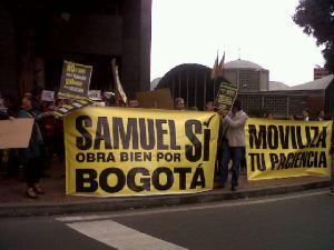Nada más se moviliza por Bogotá en estos días