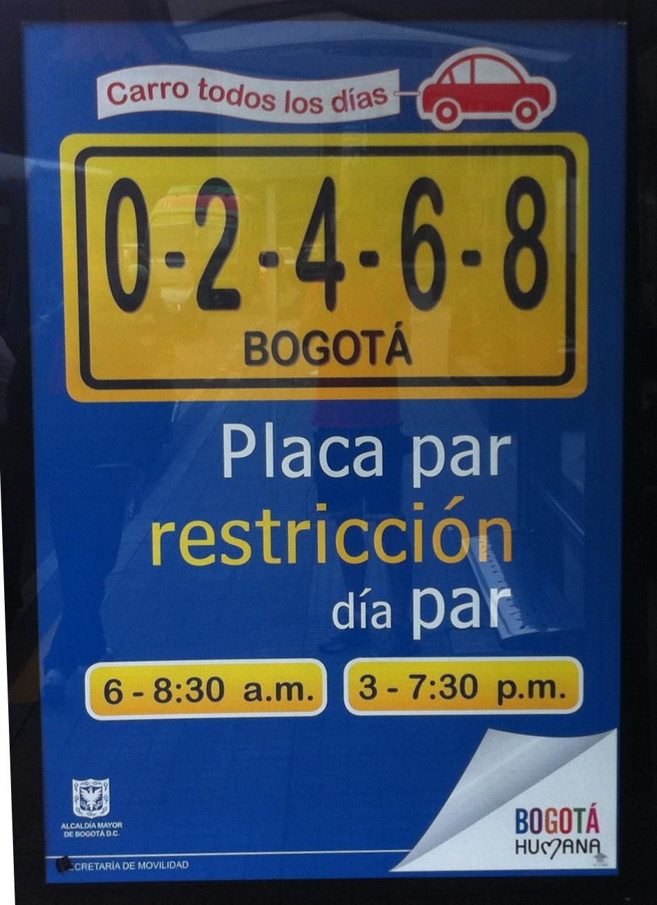 Carro todos los Días, Bogotá Humana