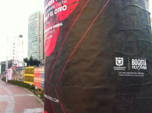 Cartel: Patrocina Bogotá Humana
