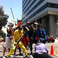 Miblogota junto a los super héroes de la bici