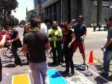 La policía llega a parar la actividad...hablamos con ellos y finalmente nos dejaron continuar