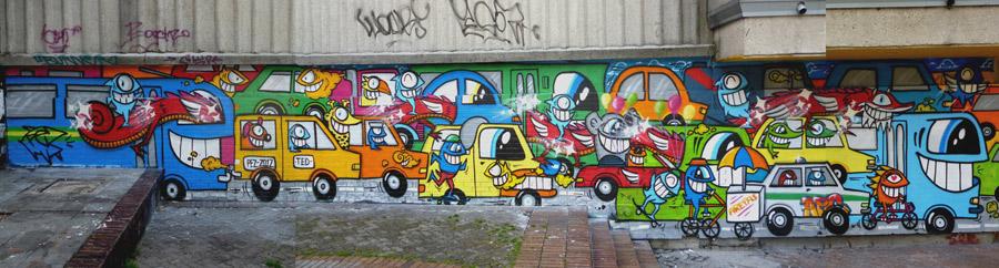 El trancón por el PEZ-Artista Urbano